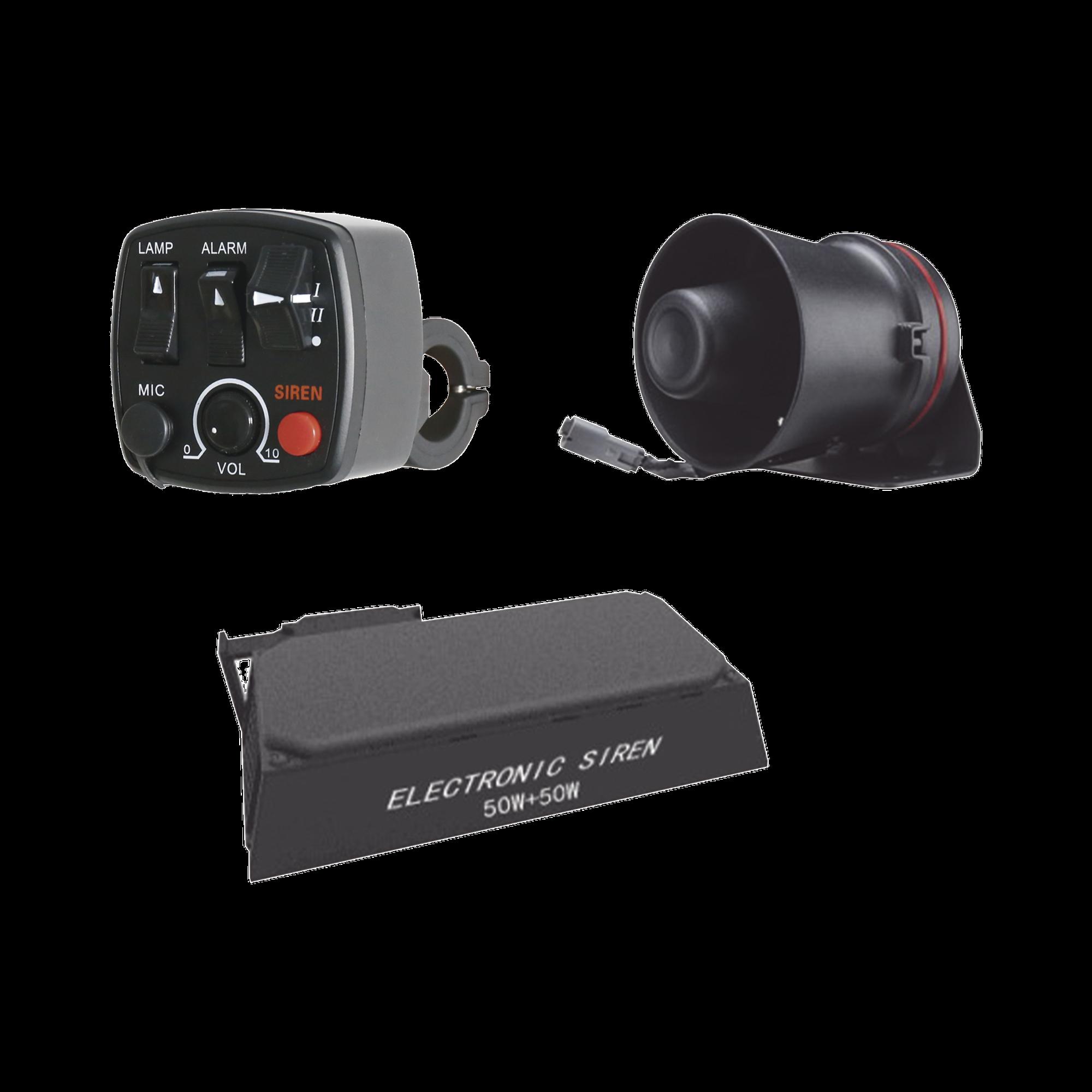 Kit para motocicleta EPCOM INDUSTRIAL, sirena, bocina y controlador