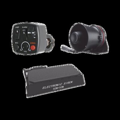 Kit para motocicleta EPCOM INDUSTRIAL, sirena/ bocina 100 Watt y controlador