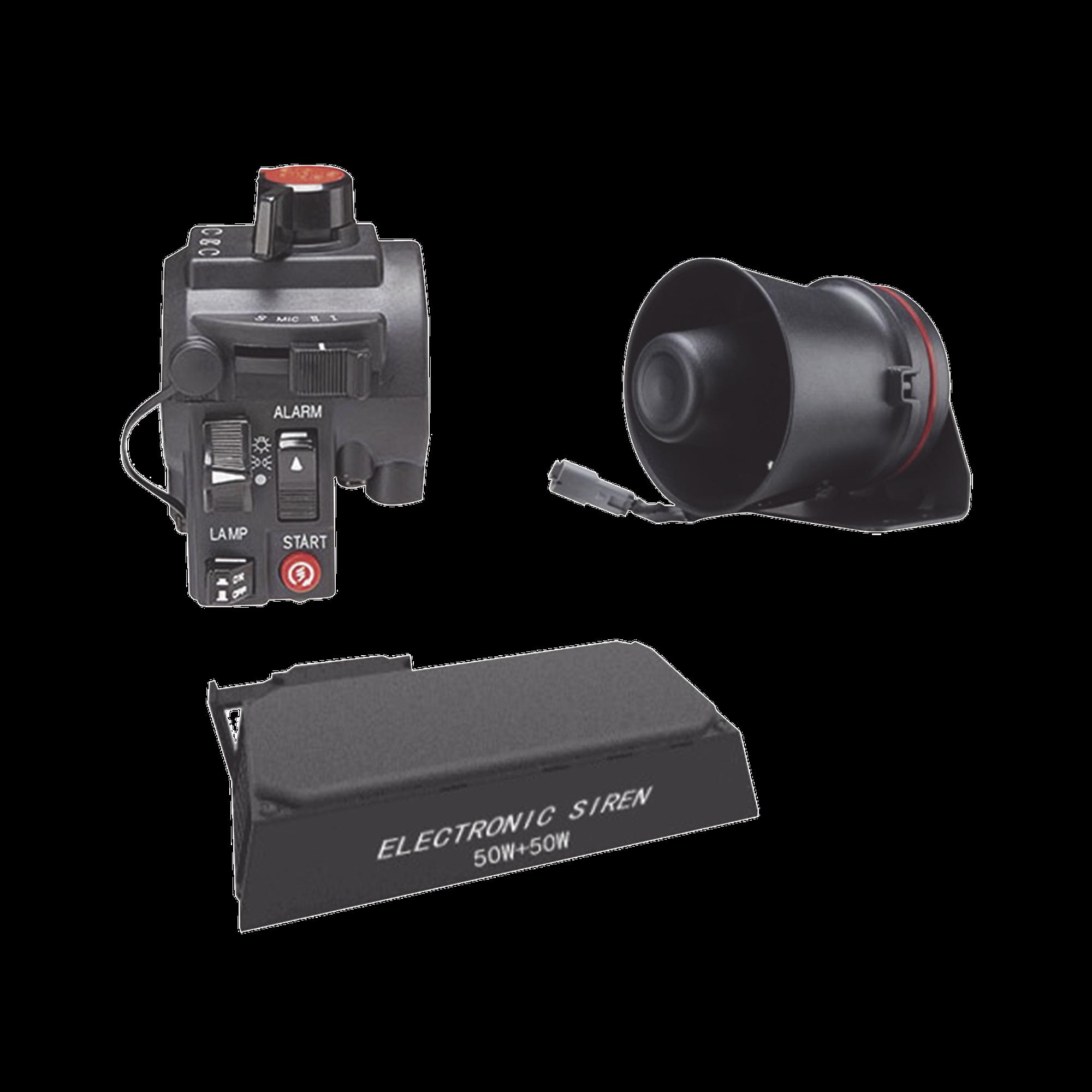 Kit para motocicleta EPCOM INDUSTRIAL, sirena/bocina de 100 Watt y controlador