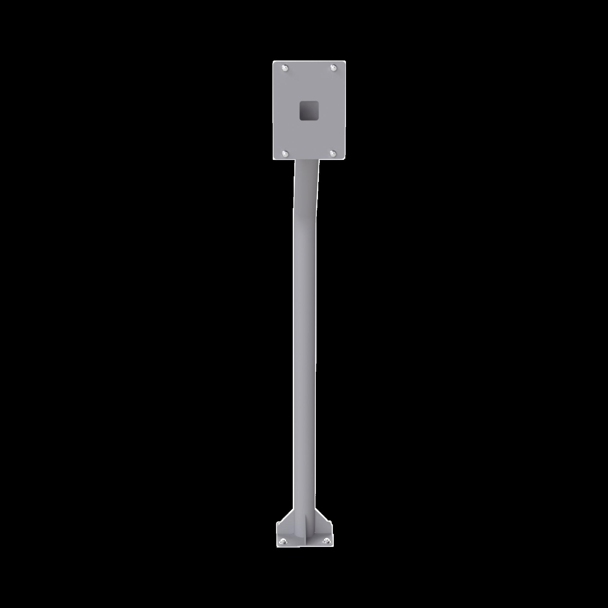 Base tipo tubular para instalación de cubierta BASEINT de videoporteros o interfones IP Fanvil y Grandstream, altura de 1.2 metros, pintura electrostática color gris.