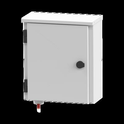 Gabinete de Exterior con Preparación para Instalación en Muro o Poste (355 X 406 X 170 mm).