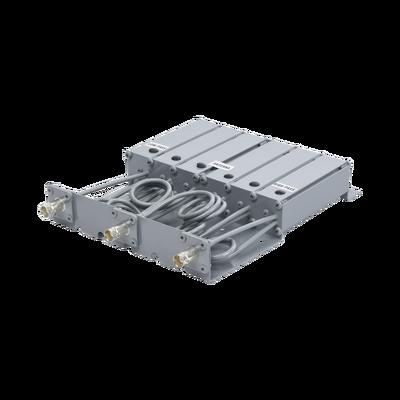 Duplexer SYSCOM en VHF, 6 Cav. 160-174 MHz, 50 Watt, 5 MHz Sep. Rechazo de Banda, BNC Hembras.