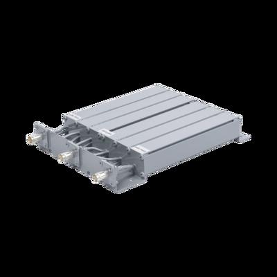 Duplexer SYSCOM en UHF, 6 Cav. 440-470 MHz, 50 Watt, 5 MHz Sep. Rechazo de Banda, BNC Hembras.