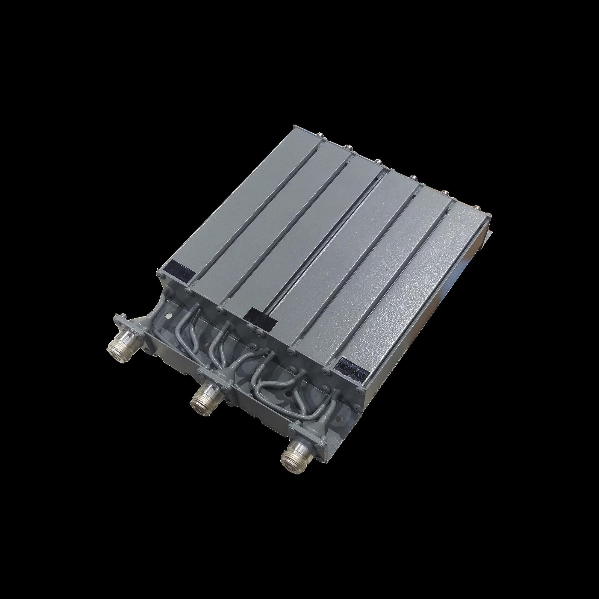 Duplexer UHF, 470-490 MHz, 6 Cavidades, Conector N Hembra.