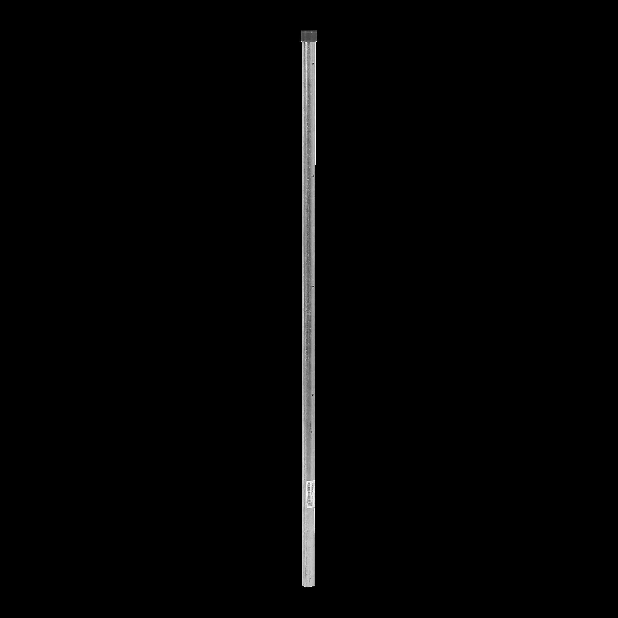 Poste de Esquina de 1m para Cerca Electrificada de Tubo Galvanizado cal. 18 de 1Diam. Ideal para 5 Aisladores (No incluidos).