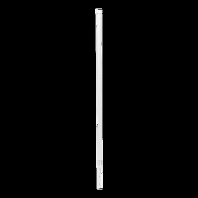 """Poste de Esquina Blanco de Acero Galv. de 1.2m para Cerca Electrificada  cal. 18 de 1"""" Diam. para 5 Aisladores (No incluidos)."""