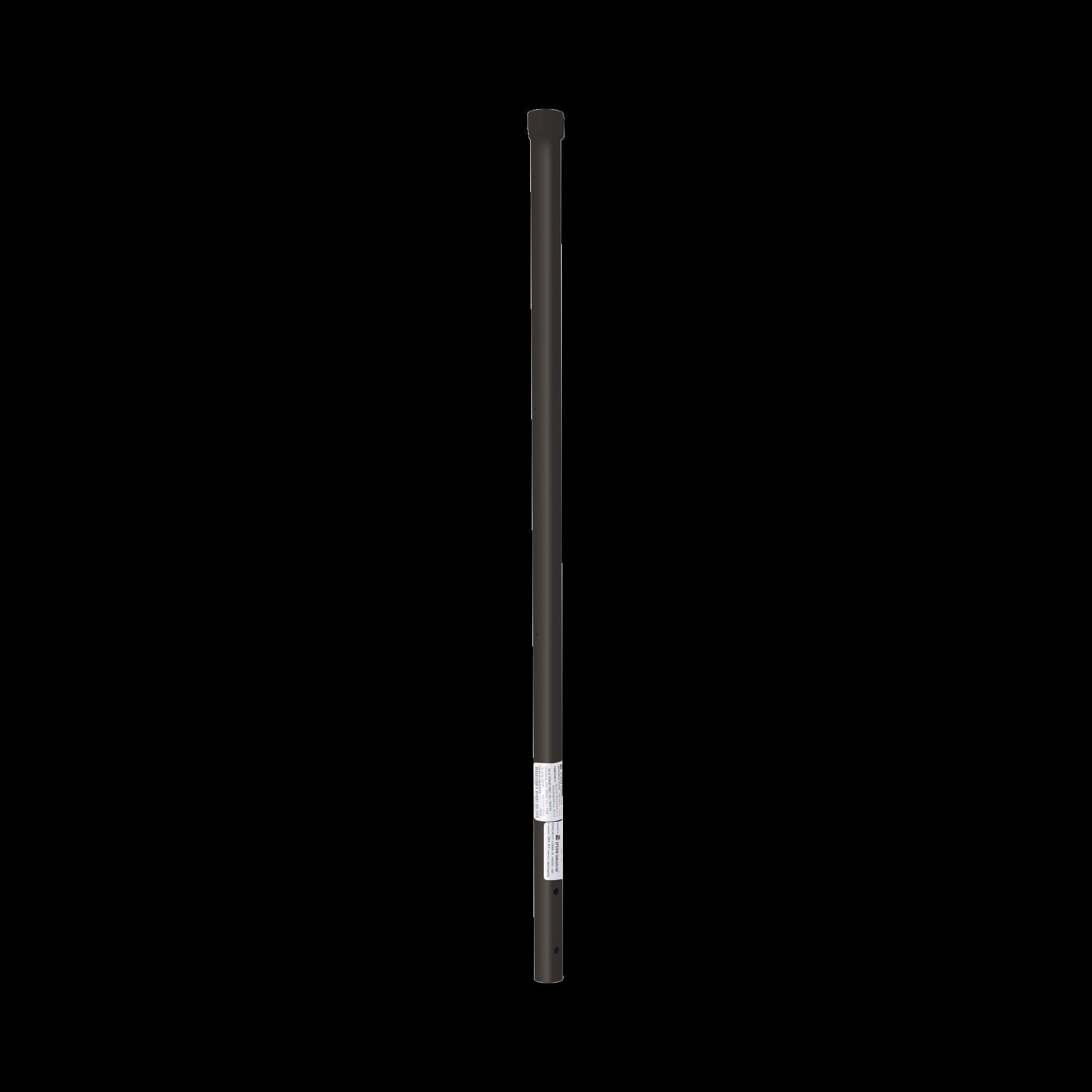 Poste de ESQUINA color Negro para Cerca Electrificada. Tubo Galvanizado cal. 18 de 1 Diam. y 0.8m Alto con Tapón, ideal para 3 aisladores