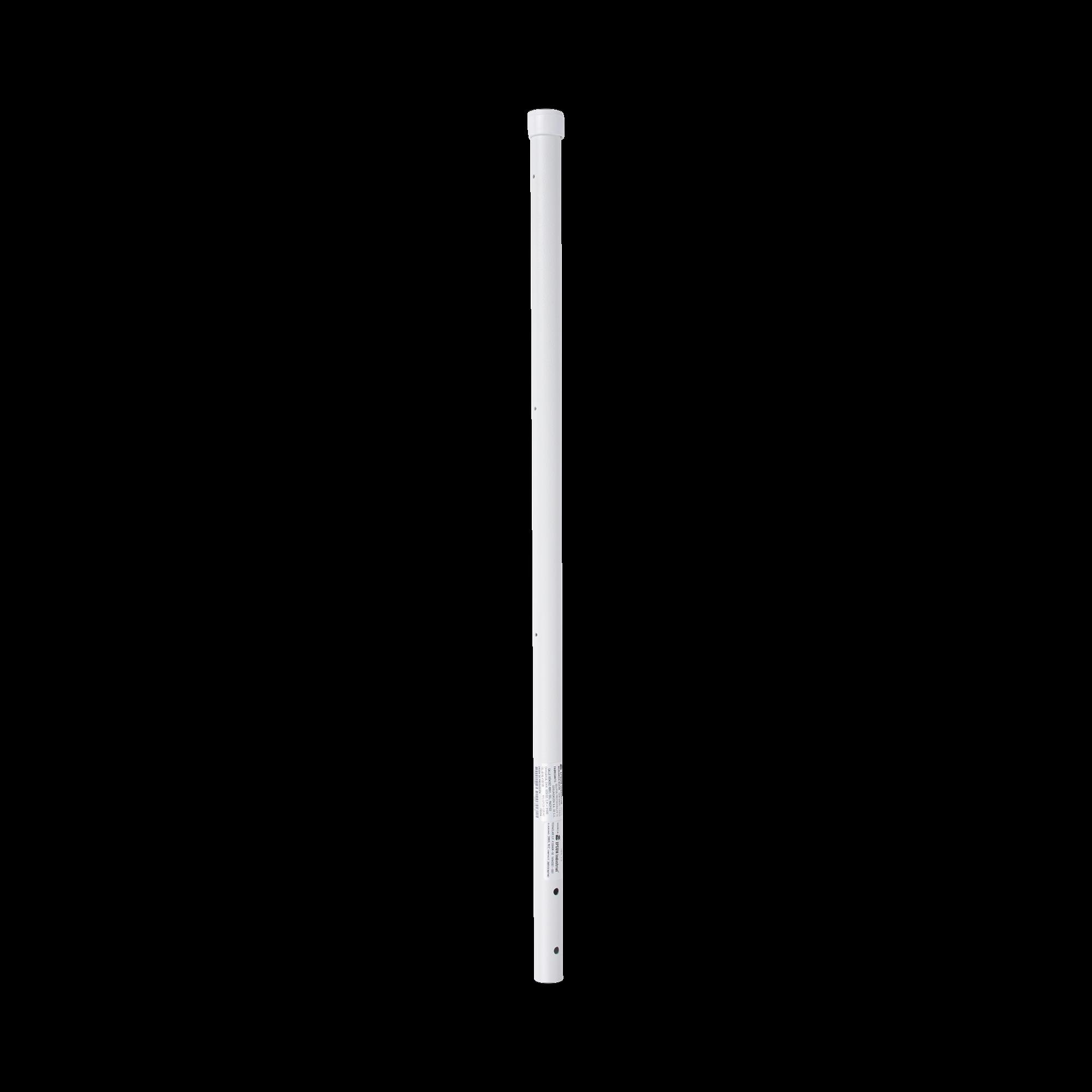 Poste de Esquina de 0.8m para Cerca Electrificada. Tubo Galvanizado cal. 18 de 1Diam. con Tapón, ideal para 3 Aisladores.