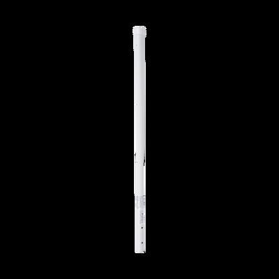 """Poste de Esquina de 0.8m para Cerca Electrificada. Tubo Galvanizado cal. 18 de 1""""Diam. con Tapón, ideal para 3 Aisladores."""