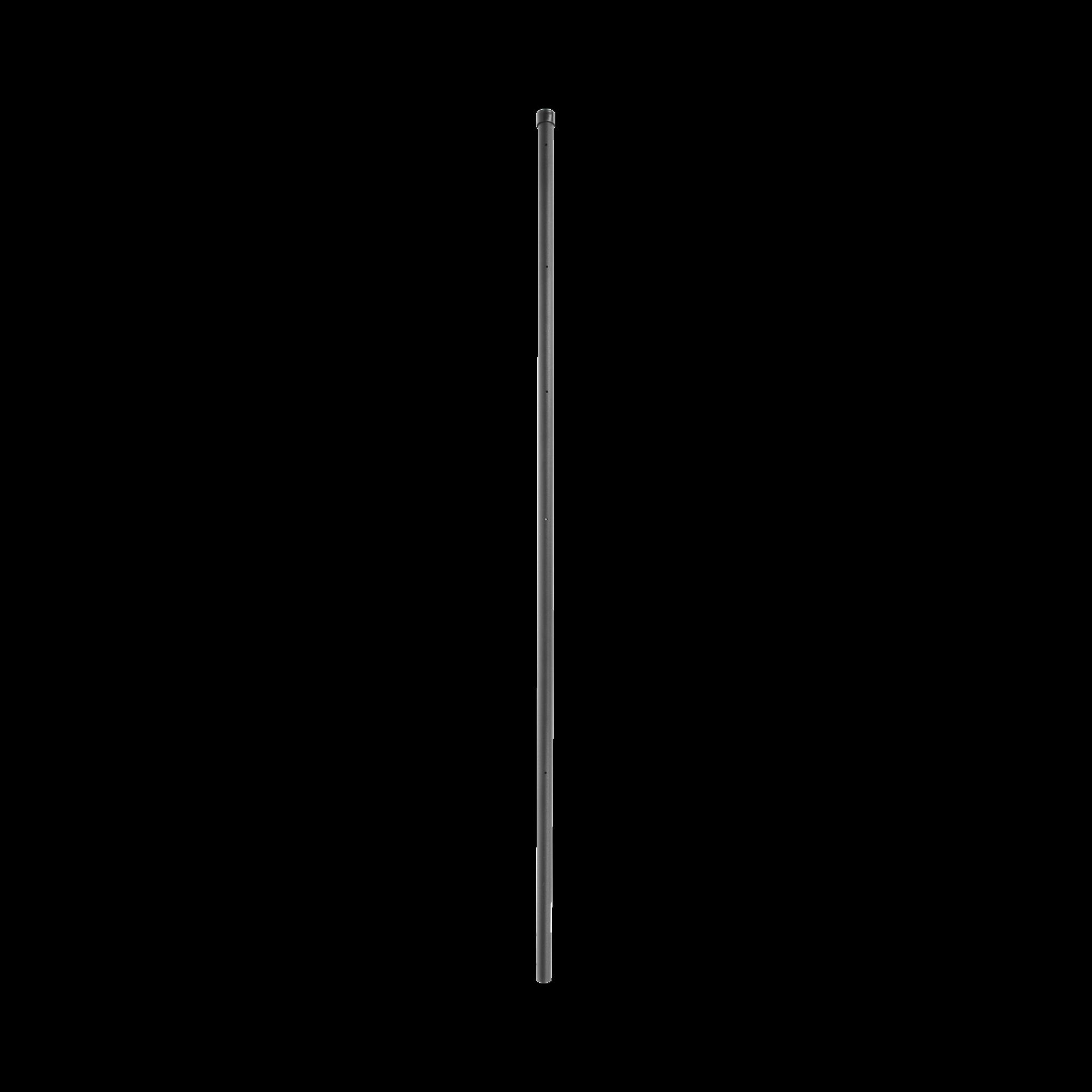 Poste de ESQUINA para Cerca Electrificada. Tubo Galva. de 1.5m, cal. 18 de 1 Diam. + Pintura Negra, ideal para 6 Aisladores
