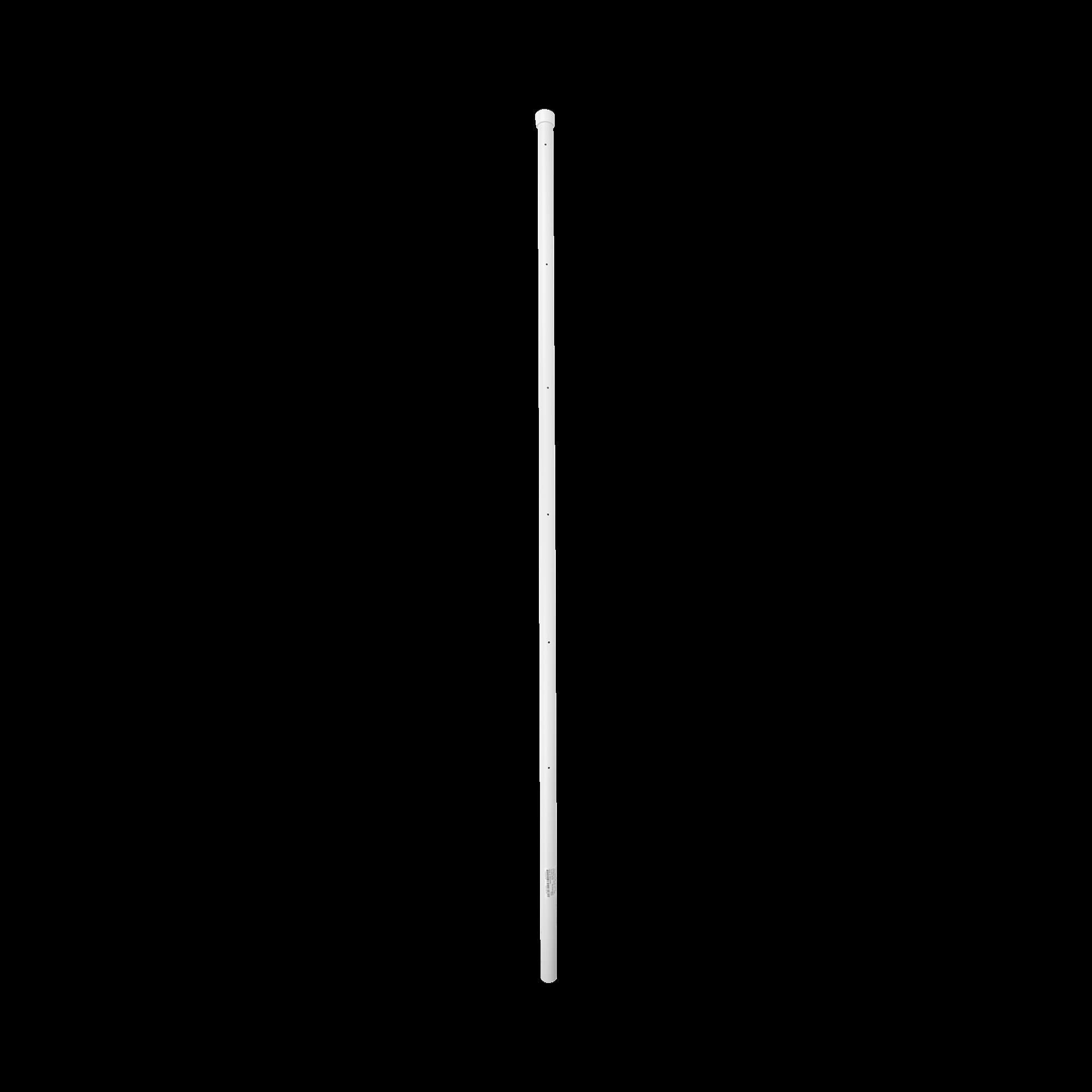 Poste de Esquina para Cerca Electrificada. Tubo Galva. de 1.5 m, cal. 18 de 1 Diam. + Pintura Blanca. Ideal para 6 Aisladores