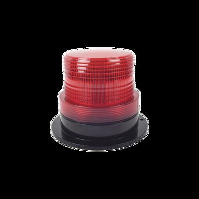 Burbuja Brillante de Larga Vida Útil, con 8 LEDs Color Rojo, Domo Rojo