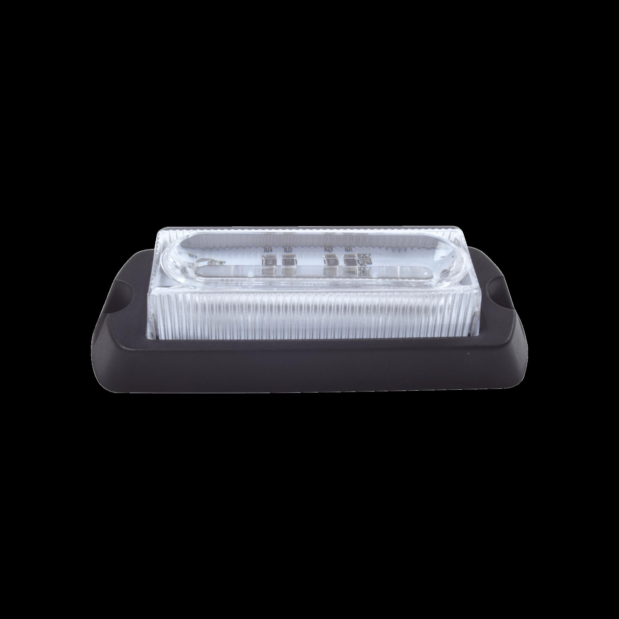 Luz Auxiliar Ultra Brillante X13 de 4 LEDs, color ámbar, con mica transparente.