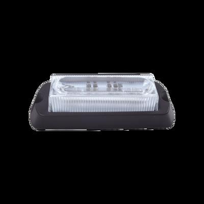 Luz Auxiliar Ultra Brillante de 8 LED's en color Rojo/Azul con mica transparente