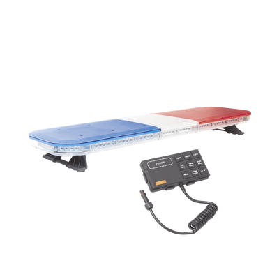 """Barra de luces de 47"""" rojo/azul, 88 LED, con control de tráfico en color rojo/azul, ideal para equipar unidades de seguridad pública"""