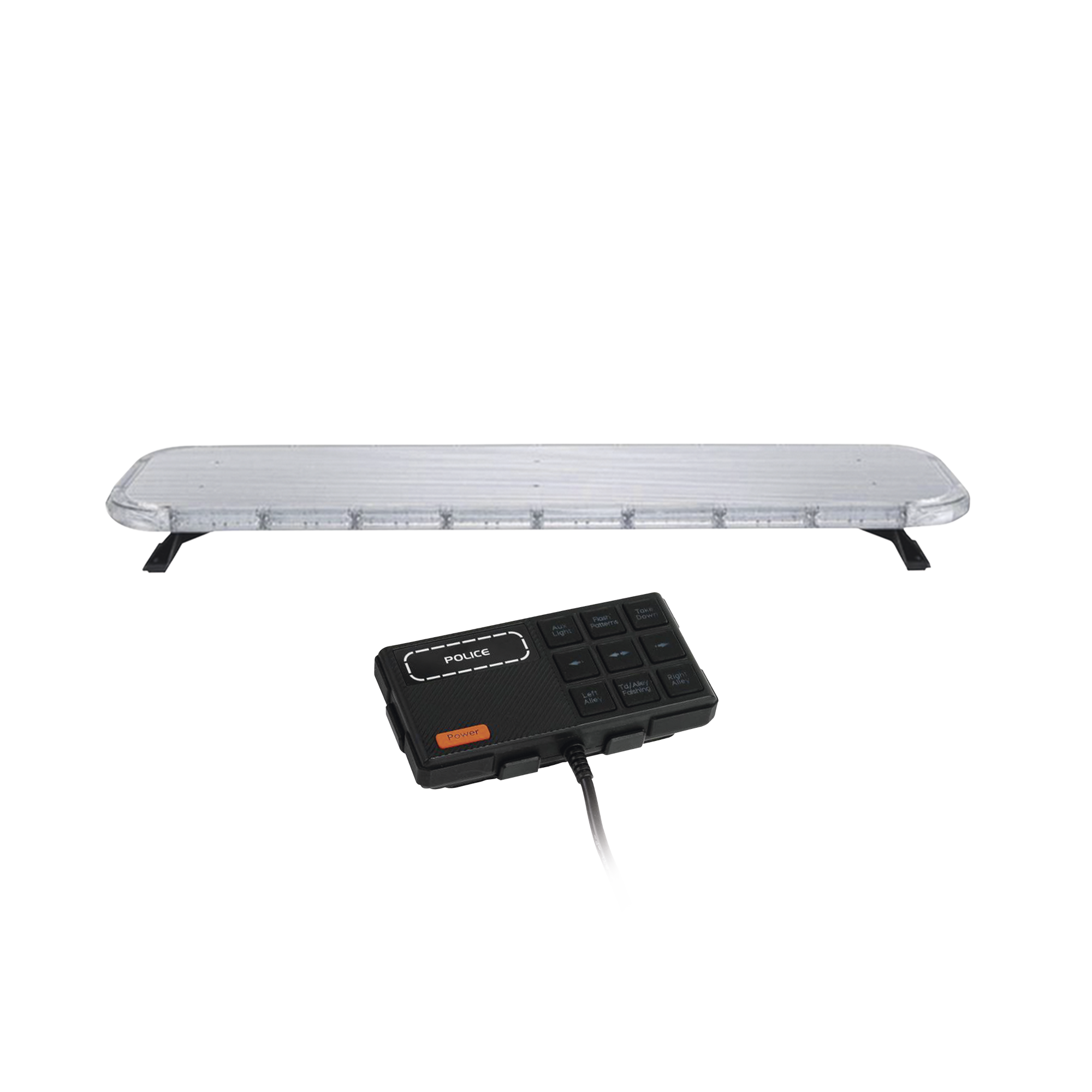 Barra de luces LED de 47 Rojo/Azul , De 132 LEDs, Controlador Incluido, Ideal para Equipar Unidades de Seguridad Publica