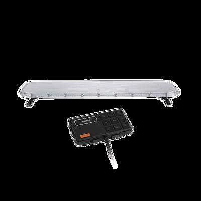 "Barra de luces LED de 47"" Rojo/Azul , De 132 LEDs, Controlador Incluido, Ideal para Equipar Unidades de Seguridad Publica"