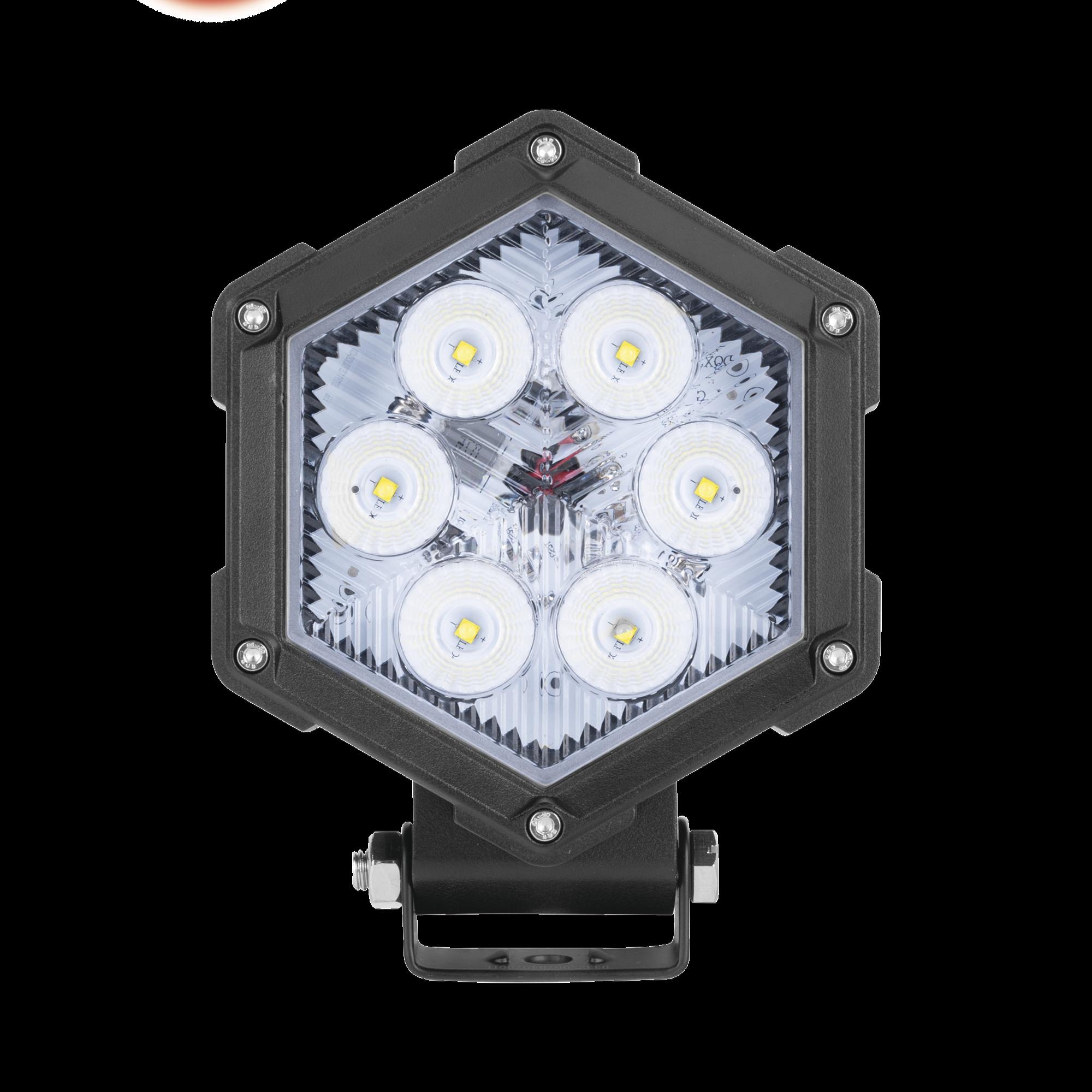 Luz de trabajo ultra brillante, 6 led, 30 watts, 12-24 Vcd