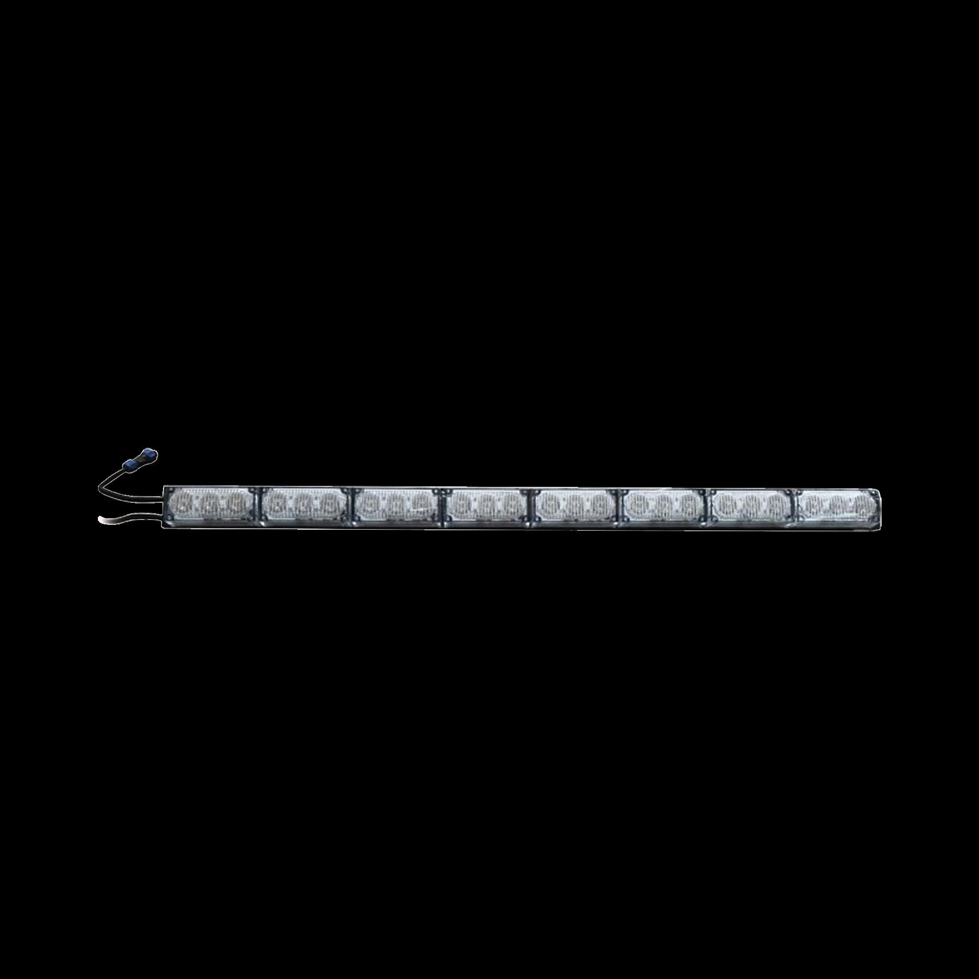 Barra de luz de advertencia de 8 modulos claros