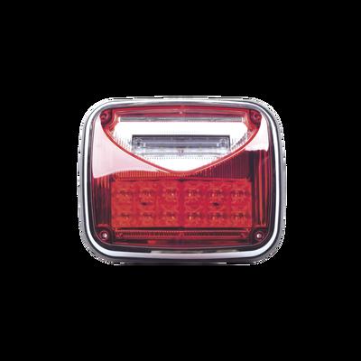 """Luz de advertencia color Rojo, con luz de trabajo color Claro 8""""X 6"""""""