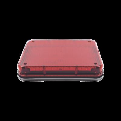 """Luz de Advertencia de 9X7"""", Color Rojo"""