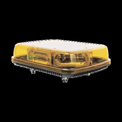 Mini Barra  con 18 Poderosos LEDs, Color Ámbar Con Montaje Fijo de Tornillos