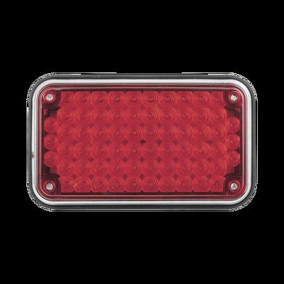 """Luz de Advertencia de 6X4"""", Color Rojo"""