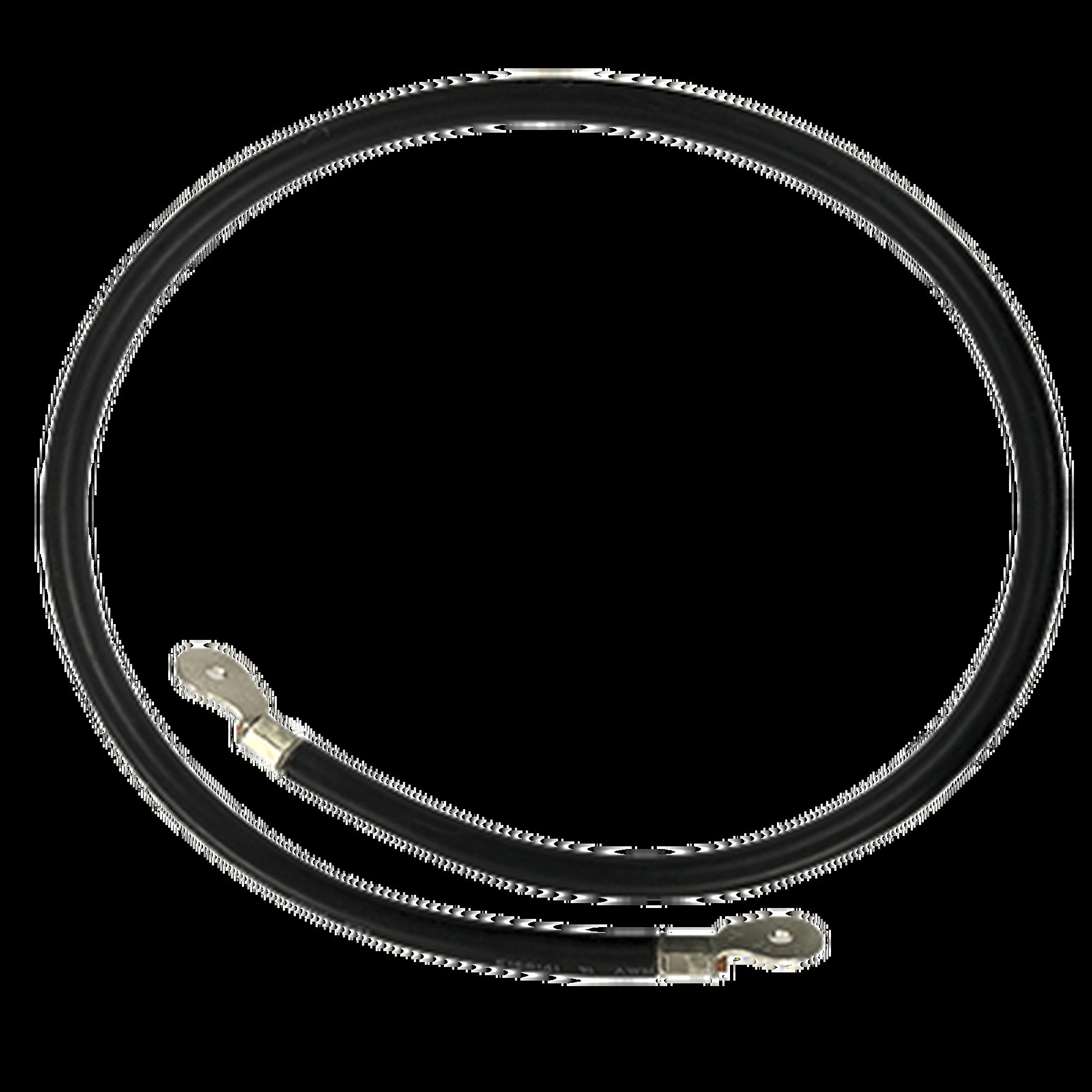 Cable para Baterias, 1 m, Negro, Calibre 2 AWG con Terminales de Ojo en Ambos Extremos