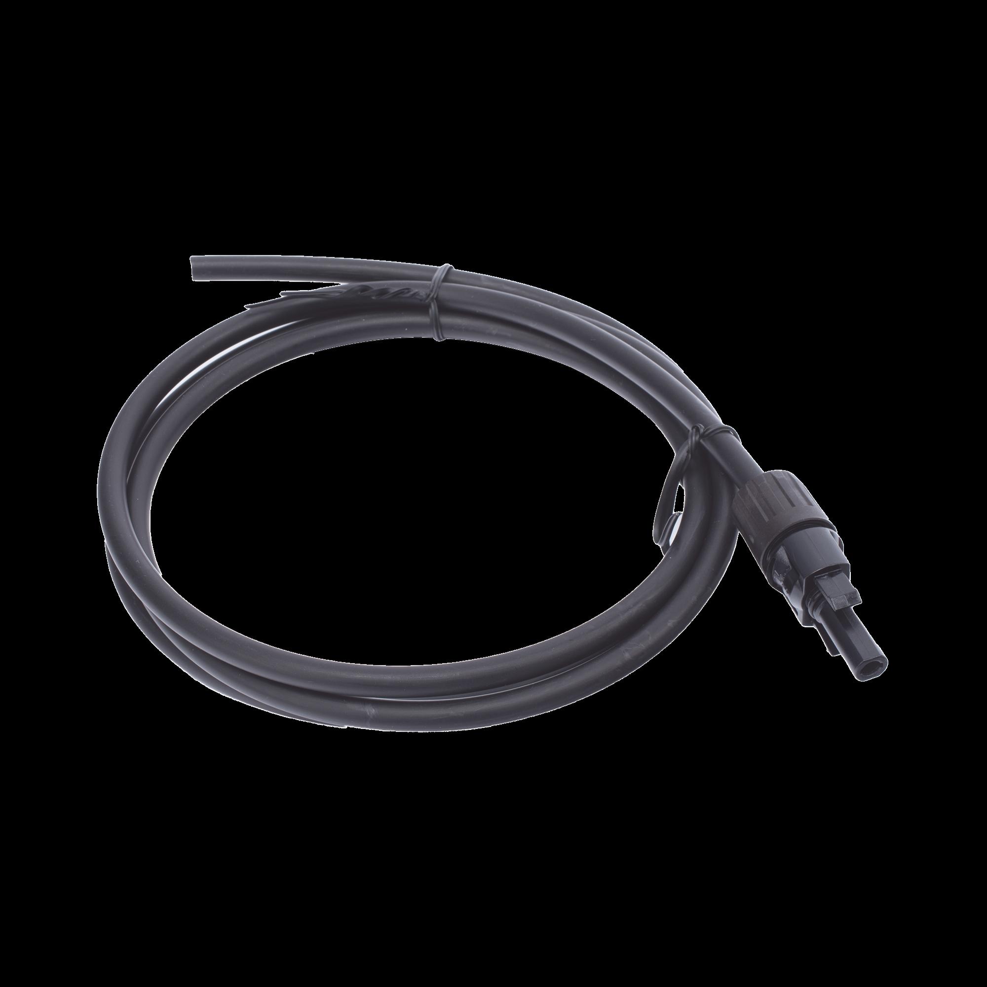 Cable Fotovoltaico 1.5 m, Negro, Calibre 10 AWG con Terminal MC4-H en un Extremo