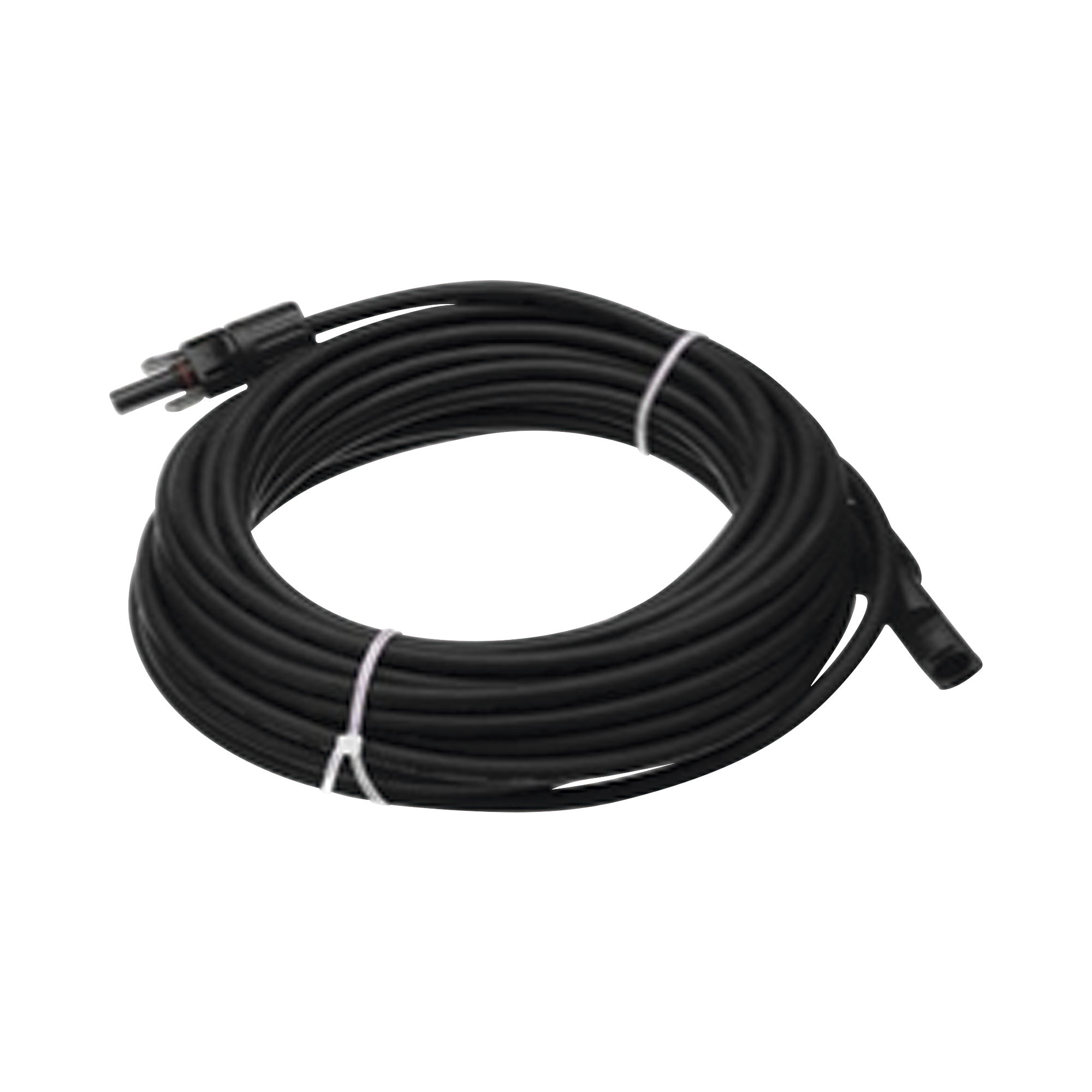 Cable Fotovoltaico 50 m, Negro, Calibre 10 AWG con Terminales MC4 en Ambos Extremos