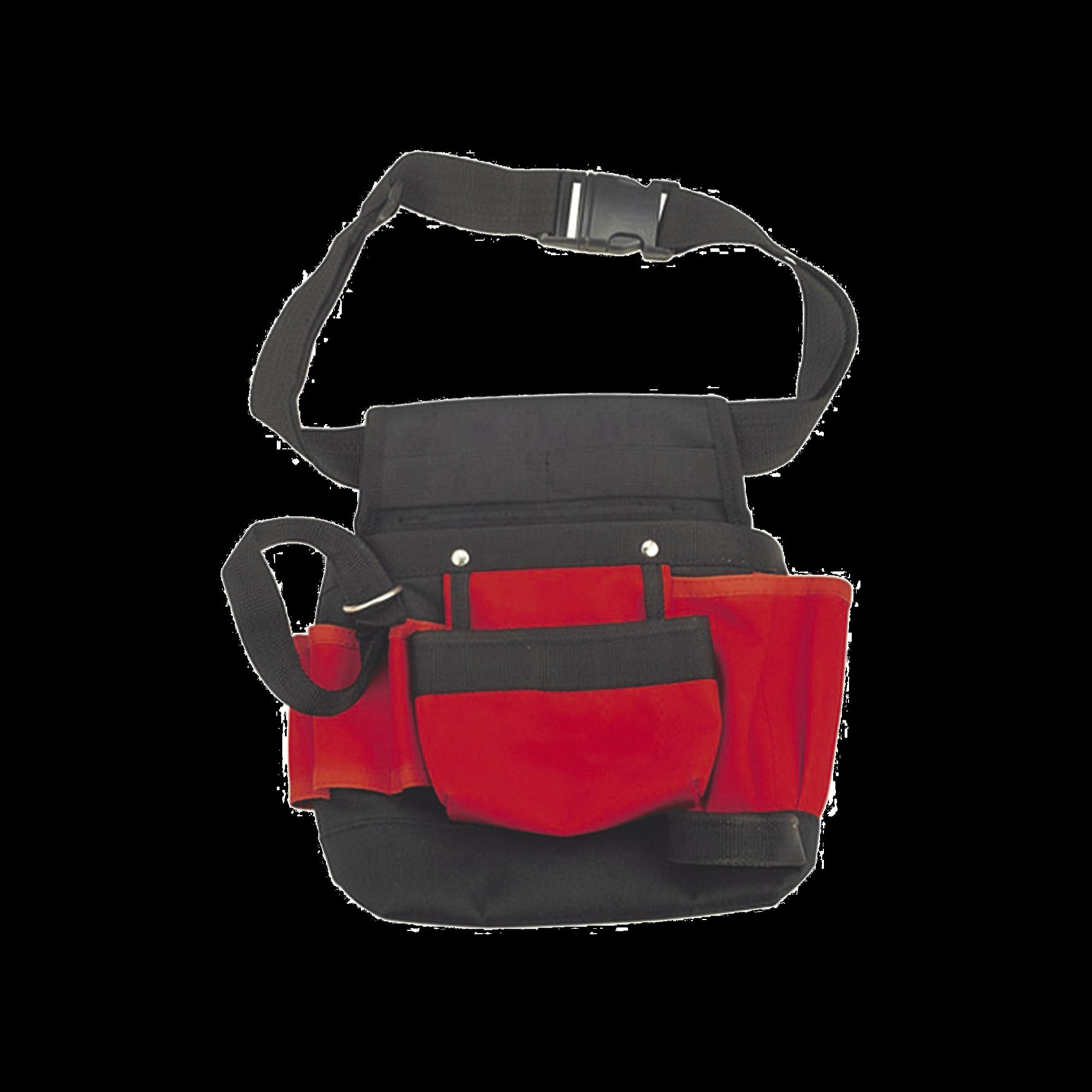 Bolsa para herramientas de 21X11.5X3.4 cm con múltiples compartimientos, cuerpo principal en poliéster con broches en  polioximetileno (POM) y argollas en acero...