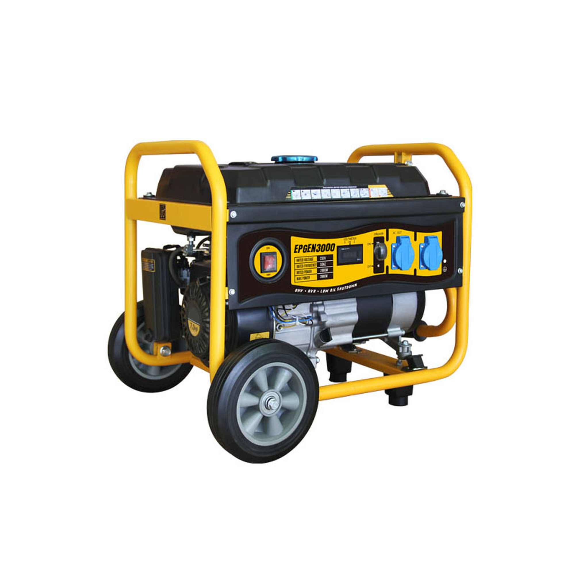 Generador a Gasolina 2.6kW, Jaula con Ruedas para Fácil Traslado