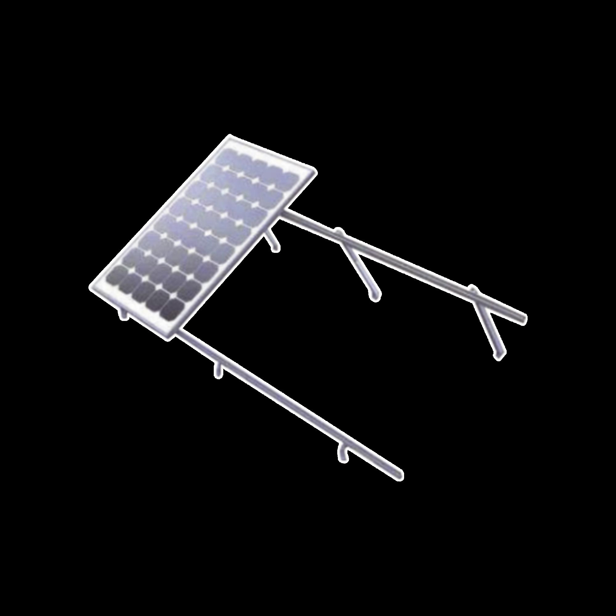 Montaje de aluminio para techo o piso de concreto,  de alta resistencia y rápida instalación,  arreglo 1x4 módulos fotovoltáicos de 40mm de espesor