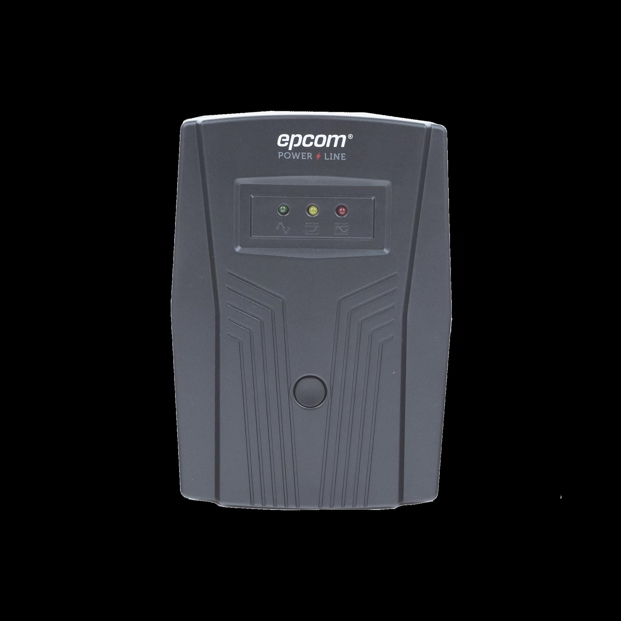 UPS de 850VA/510W / Topología Línea Interactiva / Entrada y Salida 120 Vca / Regulador de Voltaje AVR 80-150 Vca / Clavija NEMA 5-15P / 4 Tomas NEMA 5-15R