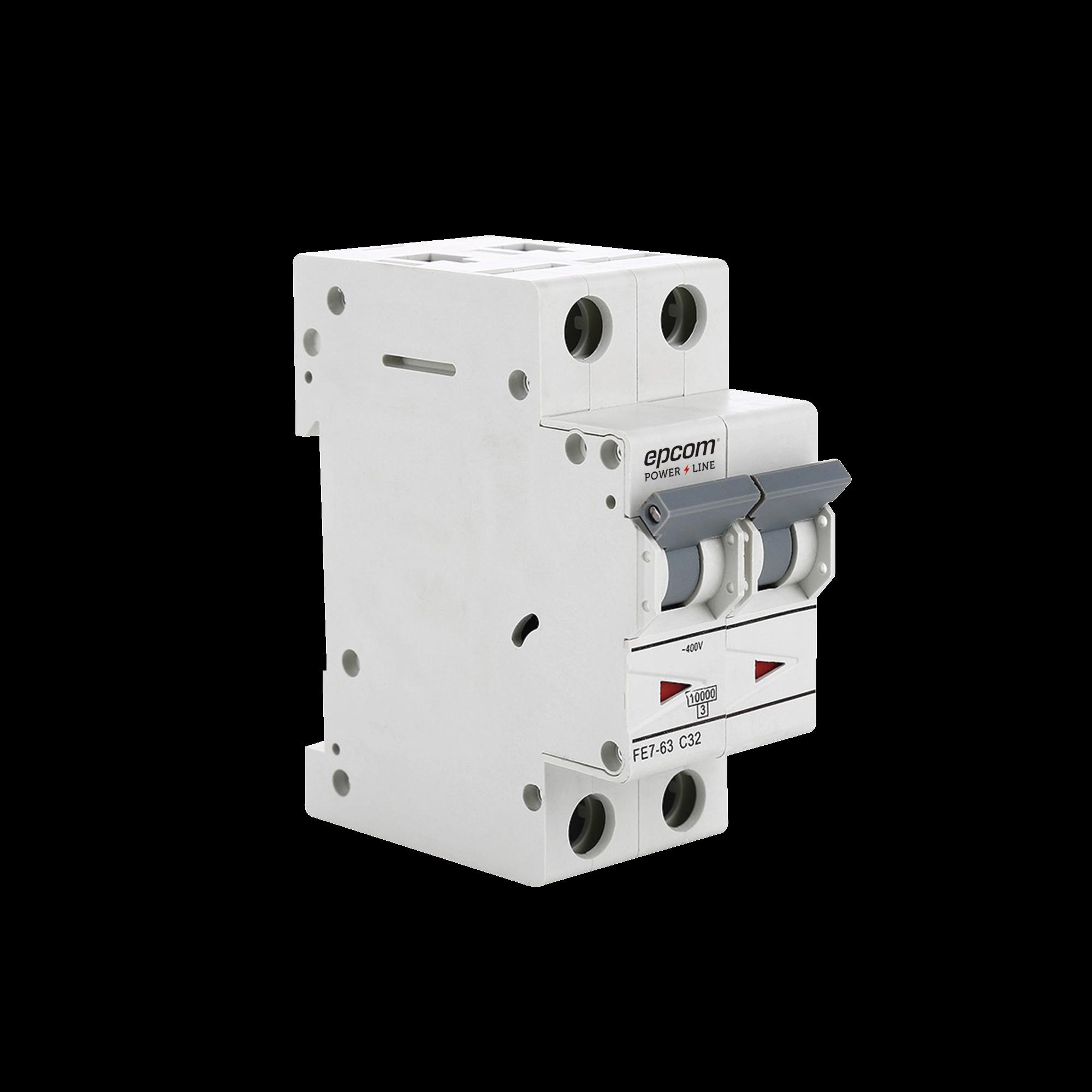 Protección Térmica 2P, 32A,  Corriente Alterna  400 V CA para Aplicación Fotovoltaica Montaje Riel DIN