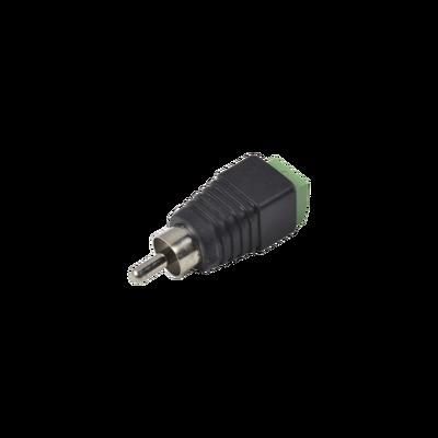 Adaptador RCA macho para video o audio con terminal atornillable
