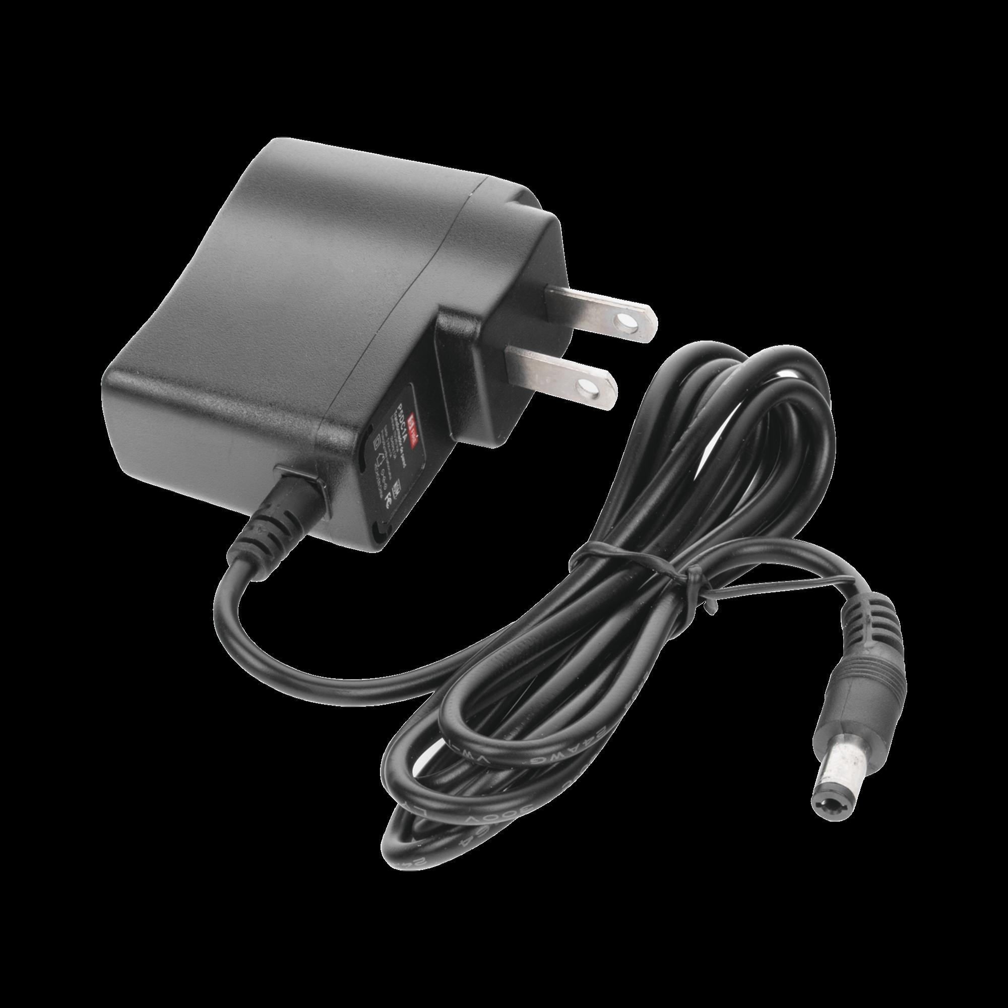 Fuente de poder de 5 Vcd regulado @ 1A; Voltaje de entrada de 100-240 Vca. Certificación de NOM