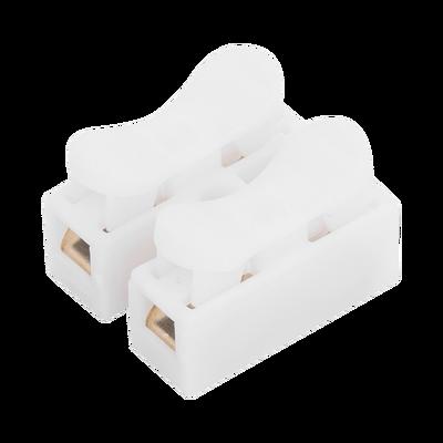 Conector tipo PUSH de 2 Contactos / Para una Conexión Rápida / Puentes de Cables