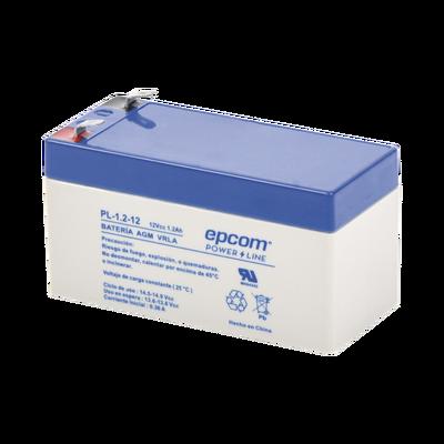 Batería con Tecnología AGM / VRLA, 1.2 Ah. Para uso en aplicaciones de sistemas de seguridad electrónica con respaldo. Dimensions : 97 x 52 x 97 mm