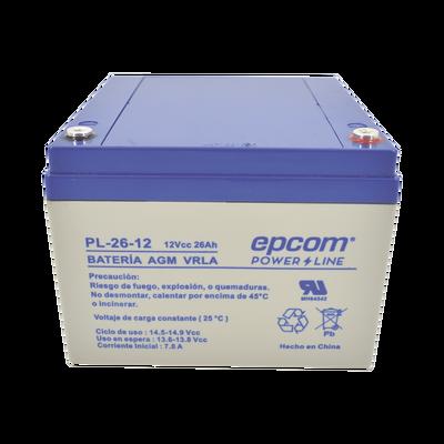 Batería con Tecnología AGM/VRLA, 26 Ah. 12 Vcd