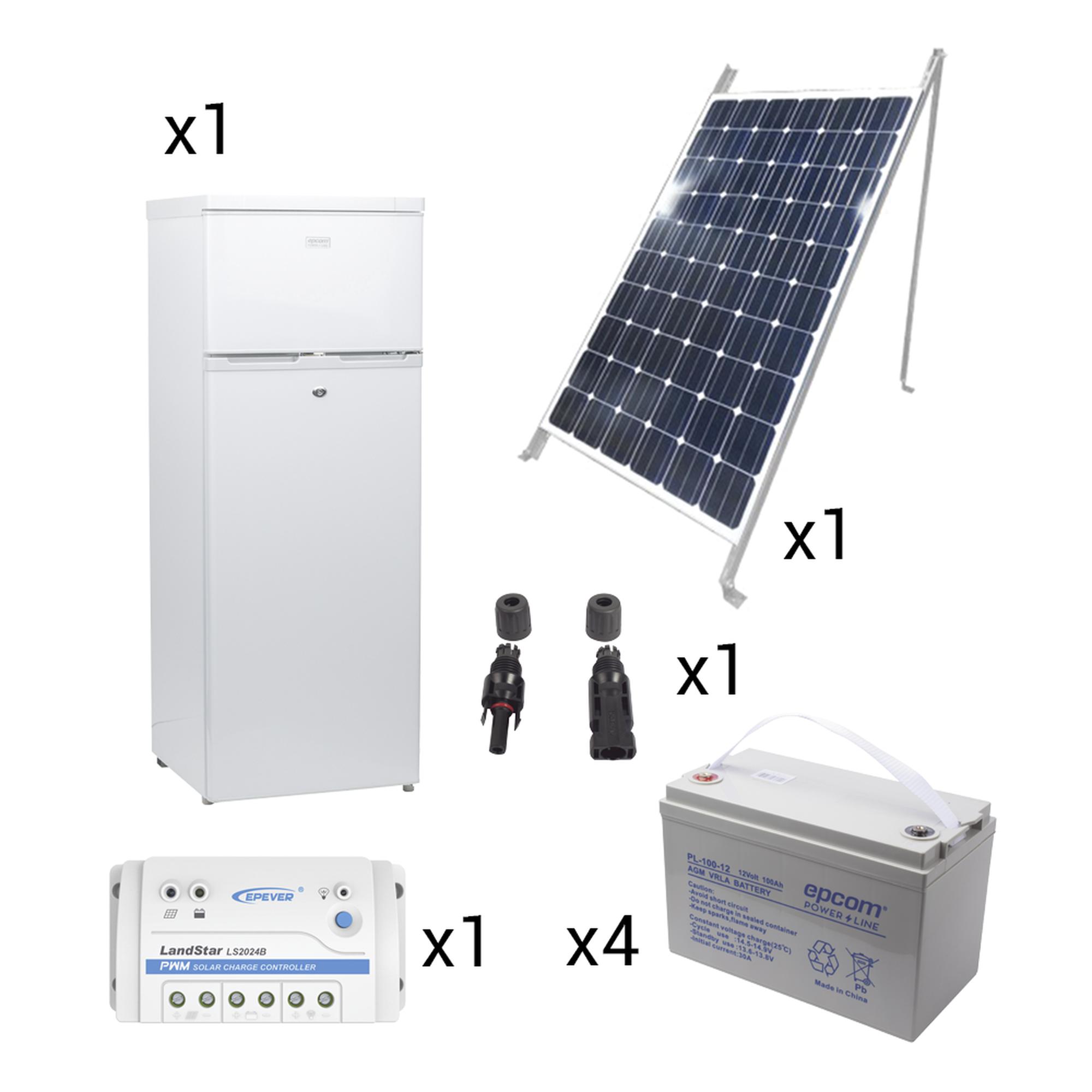 Kit de energía solar para refrigerador de 220 L de aplicaciones aisladas de la red eléctrica