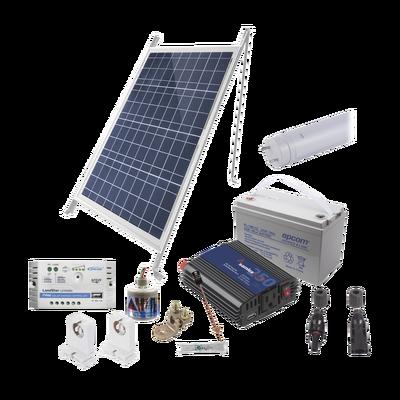 Kit Solar Para Iluminación Básica en Zonas Rurales, 1 Tubo Led