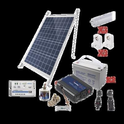 Kit Solar Para Iluminación Básica en Zonas Rurales, 3 Tubos Led
