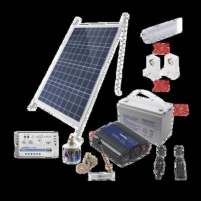 Kit Solar Para Iluminación Básica en Zonas Rurales, 5 Tubos Led