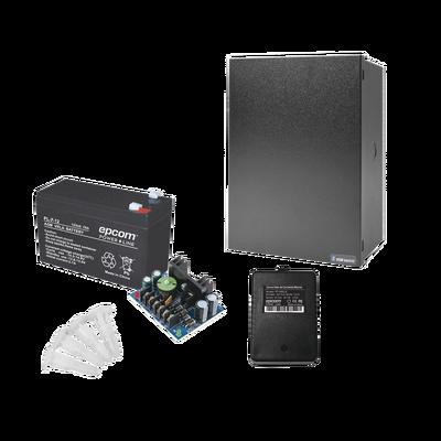 Kit con fuente ALTRONIX de 12 Vcd a 4 Amper, incluye transformador y batería de 7 Amper