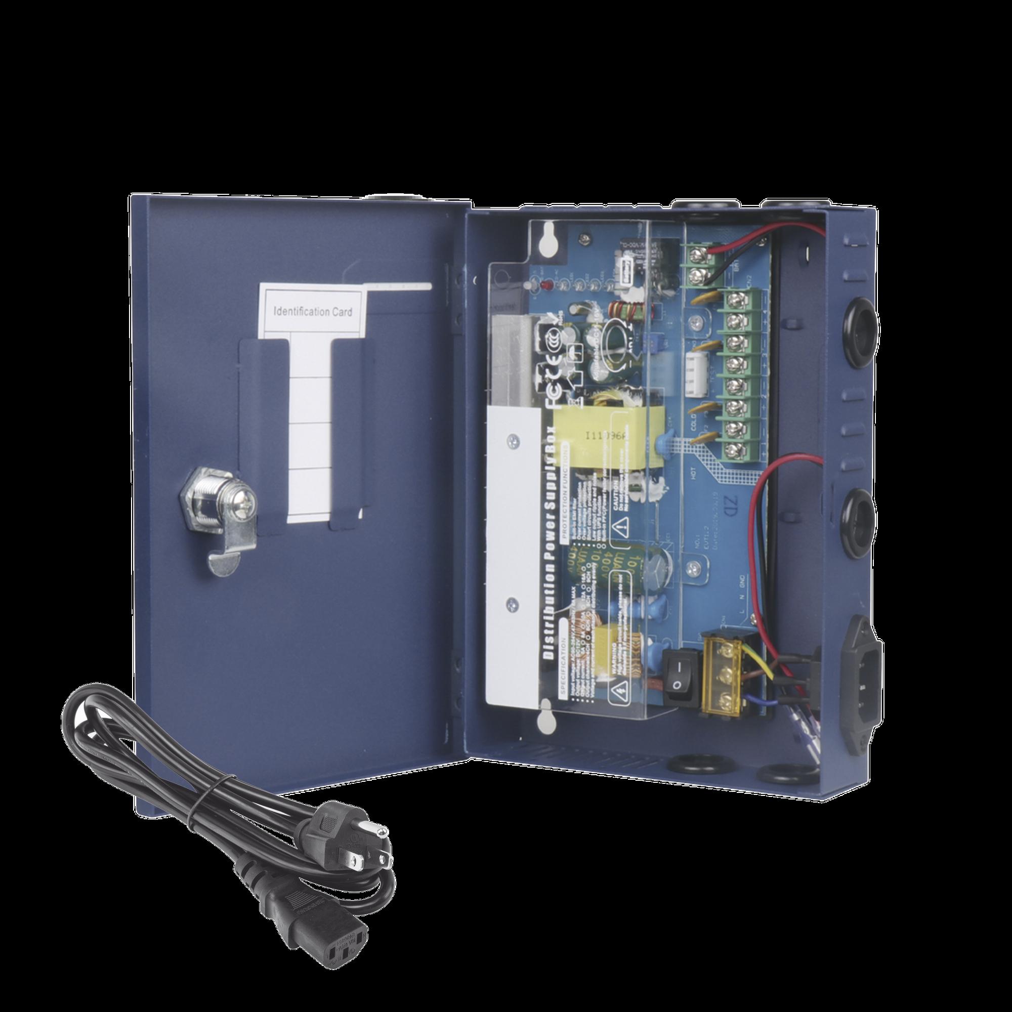 Fuente de alimentación ALTO RENDIMIENTO de 11 - 15 Vcd @ 6 Amper, 4 canales de salida , con voltaje de entrada de: 96-264 Vca