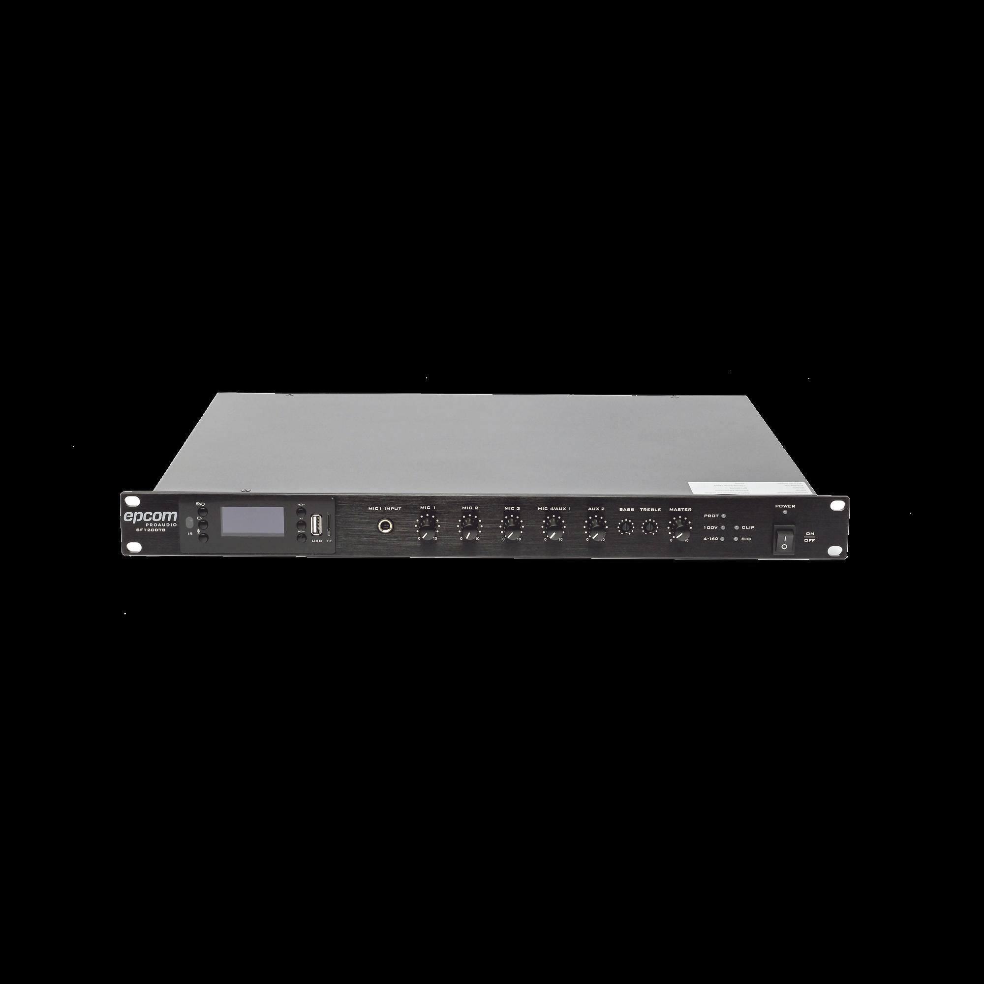 Amplificador Mezclador 120W - (USB/MP3/TUNER) Dise�o para Rack