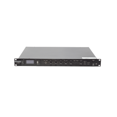 Amplificador Mezclador 120W - (USB/MP3/TUNER) Diseño para Rack