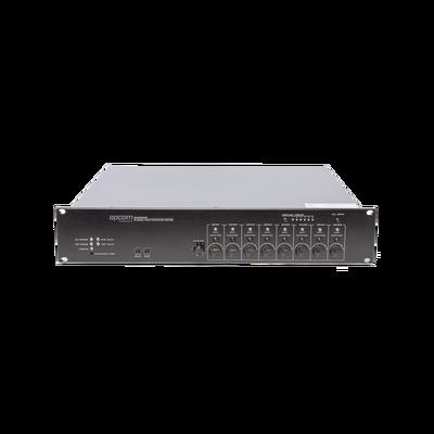 Controlador de Extensión de Evacuación de Voz -  8 Zonas, 500W, Soporta Máx. 19 SF6200MS en Cascada