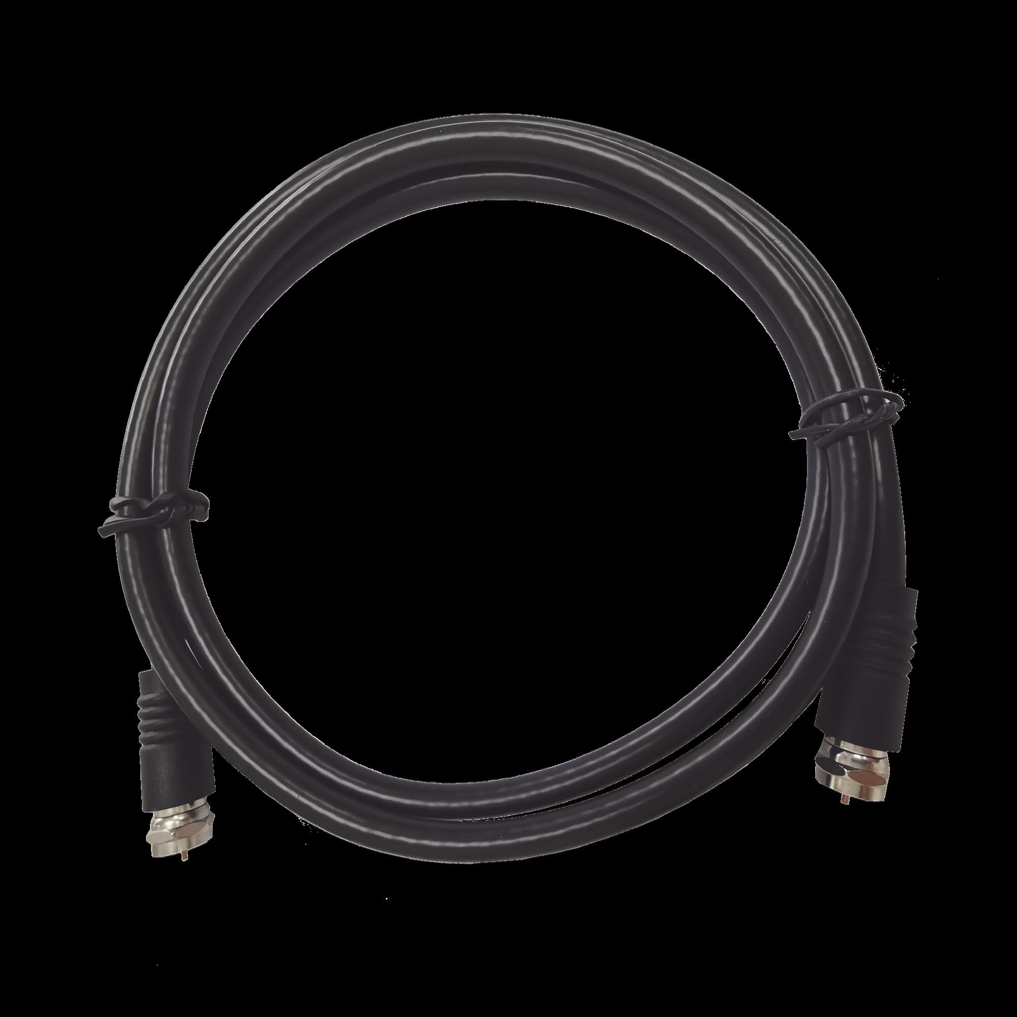 Conector Cable Coaxial / F Macho a F Macho / 30 Centimetros / Cable RG6